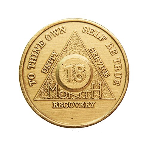 18 Month Bronze AA (Alcoholics Anonymous) - Sober / Sobriety / Birthday / Anniversary / Recovery / Medallion / Coin / Chip