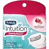 Schick Intuition Razor Cartridges Renewing Moisture 3 EA - Buy Packs and SAVE (Pack of 4)