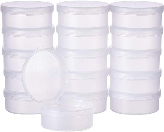 BENECREAT 16 Pack 25ml Cajas Redondas de Plástico Esmerilado Caja ...