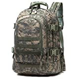 WolfWarriorX 3-day Expandable Backpack with Waist Pack Large Rucksack Tactical Backpack Molle Assault Bag for Day Hiking, Camping, Climbing, Traveling