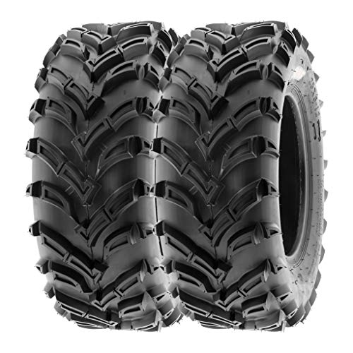 - SunF 25x8-12 25x8x12 ATV UTV A/T Mud Trail Replacement 6 PR Tubeless Tires A024, [Set of 2]