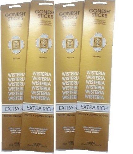 Gonesh Incense Sticks - Wisteria lot of (Wisteria Incense)