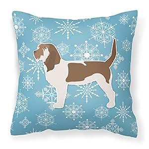 """Caroline tesoros del bb3490pw1414invierno copo de nieve Grand Basset Griffon Vendeen almohada, 14""""x 14"""", multicolor"""
