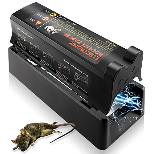 - ASprink Electronic Rodent Trap, Effective and Powerful Killer Eliminate Rats, Mice No Touch, No See-Reusable