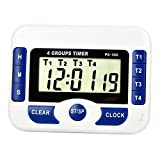 July miracle mini portable digital Kitchen 4 set timer, LCD countdown