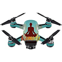 Skin For DJI Spark Mini – Namaste | MightySkins Protective, Durable, and Unique Vinyl Decal wrap cover | Easy To Apply, Remove, and Change Styles | Made in the USA
