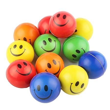 Ogquaton Smiley Face Ball PU Bola de Esponja para niños ...