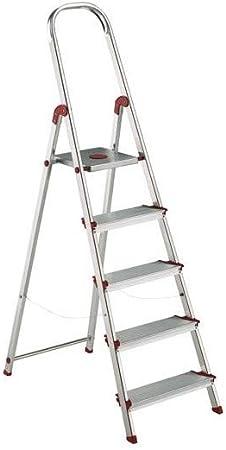 Escalera Rolser Aluminio Norma 220 5 Peldaños anchos: Amazon.es: Bricolaje y herramientas