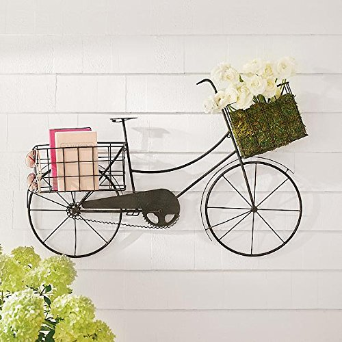 38'' Indoor Outdoor Vintage Bicycle Wall Plaque Patio Wall Art