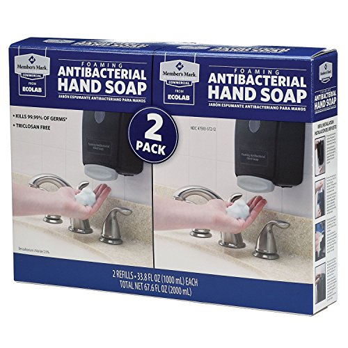 Proforce/Members Mark Commercial Foaming Antibacterial Hand Soap 2 pack Refills, 33.8 Fl. oz