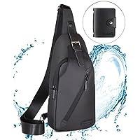 LST Sling Bag Chest Shoulder Unbalance Gym Fashion Backpack Sack Satchel Water Resistance Waterproof Outdoor Bike for Men & Women