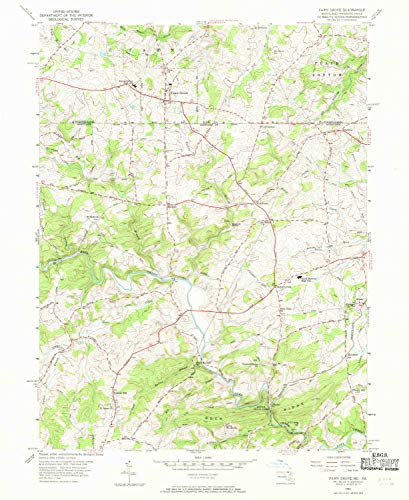 YellowMaps Fawn Grove PA topo map, 1:24000 Scale, 7.5 X 7.5 Minute, Historical, 1956, Updated 1970, 26.9 x 22 in - Polypropylene (Grove Pa Forest)