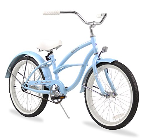 - Firmstrong Urban Girl Single Speed Beach Cruiser Bicycle, 20-Inch, Baby Blue