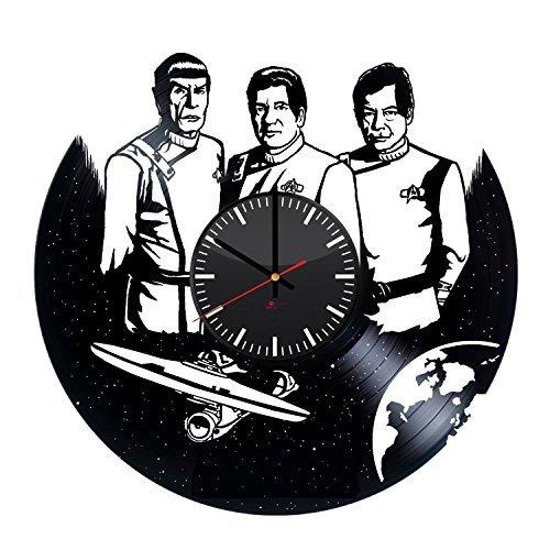 Fun Door Star Trek Emblem HANDMADE Vinyl Record Wall Clock – Perfect gifts for birthday wedding anniversary valentine's mother's father's day - Gift ideas for men and women him and (Star Trek Costume Designer)