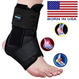 SNEINO Ankle Brace,Lace Up Ankle Brace for Women,Ankle Brace for Men,Ankle Brace Stabilizer,Ankle Brace for Sprained Ankle,Ankle Braces, Volleyball Ankle Braces,Ankle Supports for Women,Men(Large)