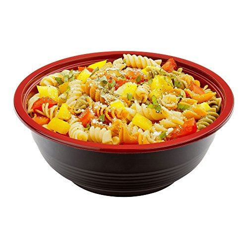Large Asian Panda Microwavable Bowl - BPA Free PP Black and Red with Clear Lid -...