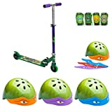 Teenage Mutant Ninja Turtles Boys 6 Piece Scooter Set with Scooter, Elbow/knee Pad, and Safety Helmet