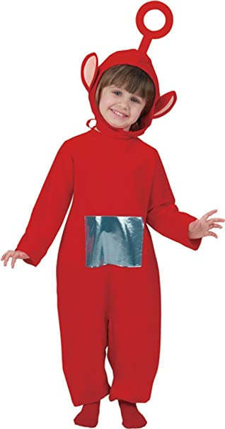 amazoncom childs red teletubbies po costume sizetoddler 1 2 by disguise costumes toys games
