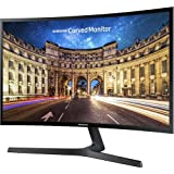 2019 Samsung 390 Series Curved 27' Full HD 1080p 16:9 LED-Backlit Slim AMD FreeSync Monitor, 60Hz, 4ms, 178°/178°, 250 cd/m², HDMI, VGA, VESA Mount, Black