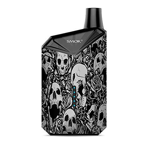 (Skin Decal Vinyl Wrap for Smok X-Force AIO Kit | Vape Stickers Skins Cover| Skulls n Roses Black White Screaming)
