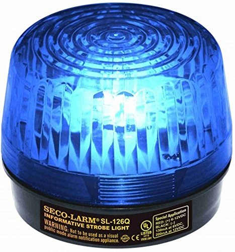SECO-LARM SL-126Q/B Blue Security Strobe Light - Strobe Blue