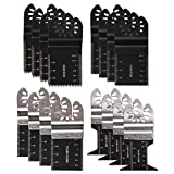 HIFROM (4 Set) Bi-metal Wood Precision Oscillating Multitool Quick Release Saw Blades Fit Fein Multimaster Porter Cable Black & Decker Bosch Dremel Craftsman Multi Tool