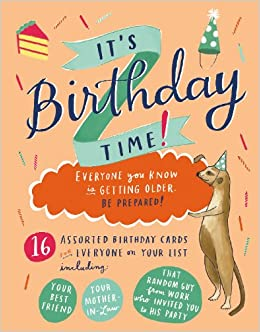 Its Birthday Time Greeting Assortment Boxed Notecards Galison Emily Mcdowell  Amazon Books