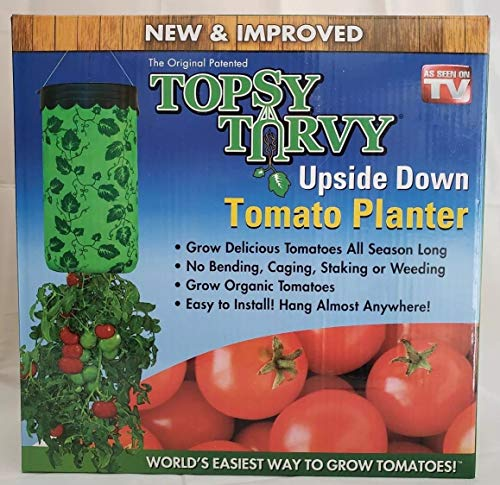 Casavidas Seeds: Topsy Turvy New Improved Upside Down Tomato Planter as seen on tv Seed Planter ()