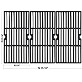 Hisencn Matte Porcelain Coated Cast Iron Cooking Grid Grates Replacement for Select Kenmore, Charbroil 463251605, Thermos, Centro, Broil King, Costco Kirkland, K Mart, Master Chef Gas Grill Models