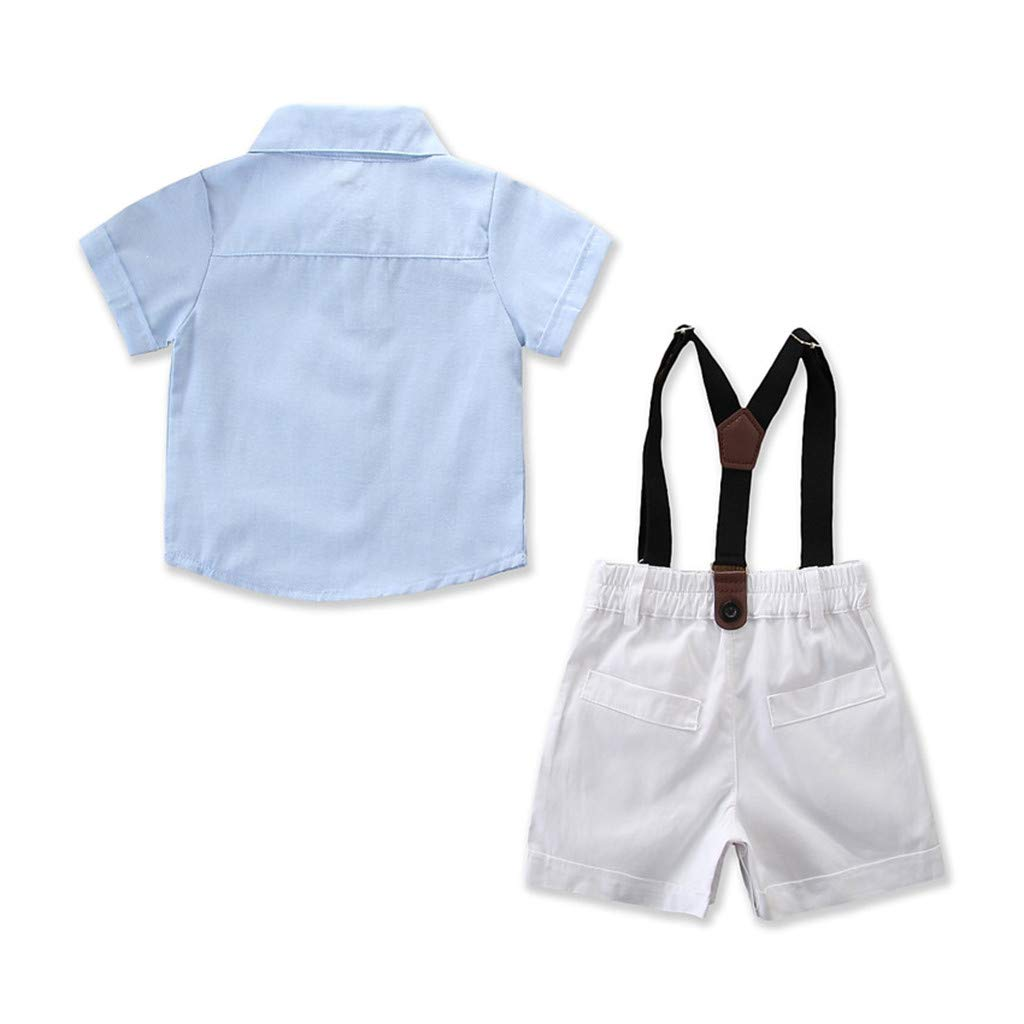 0382f251c Amazon.com: DORIC 2019 Toddler Kids Baby Boys Newborn Outfit Clothes Shirt+Shorts  Pants Gentleman Party Suit 2PC: Clothing