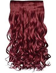 Amazon red hair extensions extensions wigs accessories reecho 20 1 pack 34 full head curly wave clips in pmusecretfo Image collections