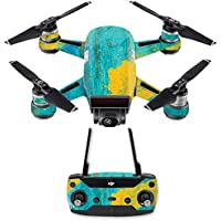 Skin for DJI Spark Mini Drone Combo - Acrylic Blue| MightySkins Protective, Durable, and Unique Vinyl Decal wrap cover | Easy To Apply, Remove, and Change Styles | Made in the USA