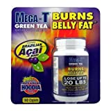 Mega-T Green Tea Supplement - Burns Belly Fat - 180 Caplets