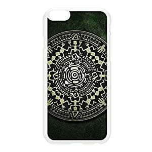 Mayan Calendar Small White Hard Plastic Case for iPhone 6 Plus by DevilleArt + FREE Crystal Clear Screen Protector