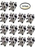Pack of 14 - 6.5'' Super Soft Squeaky Dog Toy, Raccoon