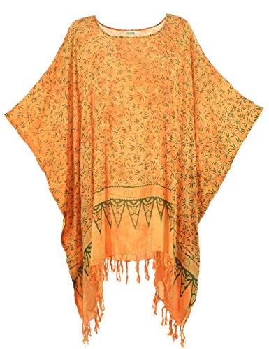 Bamboo Batik (Lifestyle Batik Bamboo Motif Print Batik Women PLUS SIZE TUNIC PONCHO CAFTAN TOP 17)