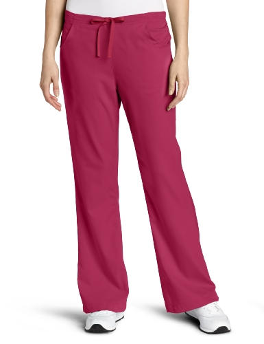 Carhartt Women's Scrubs Workflex 3 Pocket Flare Leg Pant, Sweet Plum, Large