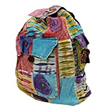 Hippie Bohemian Recycled Fabric Handmade Backpack Nepal For Sale
