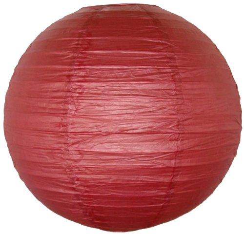 Just-Artifacts-Burgundy-Red-ChineseJapanese-Paper-LanternLamp-12-Diameter-Just-Artifact