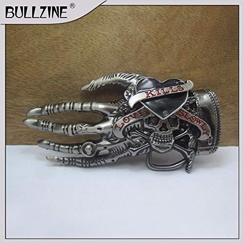 Buckle Skull Wholesale Belt - Buckes - The Wholesale Skull Belt Buckle with Gun Black Finish FP-03571 Suitable for 4cm Width on Belt