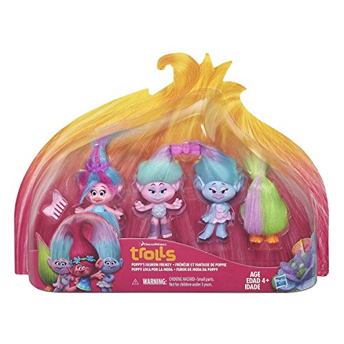 NEW TROLLS Hot SELLER Poppy's Fashion Frenzy Toddler Kids DreamworksTeens Christmas Holiday Gift Set Collection Pack (Robot Poppy compare prices)