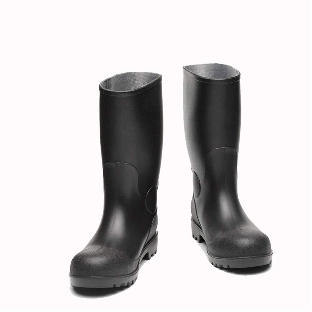 Belingeya Regenschuhe für Herren PVC Stiefel Stiefel Stiefel Stahl Toe Wasserdichte Schuhe Anti Slip und Verschleißfeste Schuhe Wasser Schuhe Schneestiefel für Männer (Größe   38 EU) 11b477