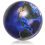"Ultra Durable & Custom {16"" inch} 1 Single Mid-Size Inflatable Beach Balls for Summer Fun, Made of Lightweight Flex-Resin Plastic w/ Space Solar System Universe Planet Earth Home Style {Multicolor}"