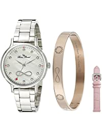Women's LP-40039-02MOP-SET Eterno Analog Display Japanese Quartz Silver Watch
