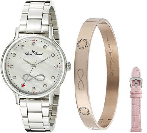 Lucien Piccard Women's LP-40039-02MOP-SET Eterno Analog Display Japanese Quartz Silver Watch ()