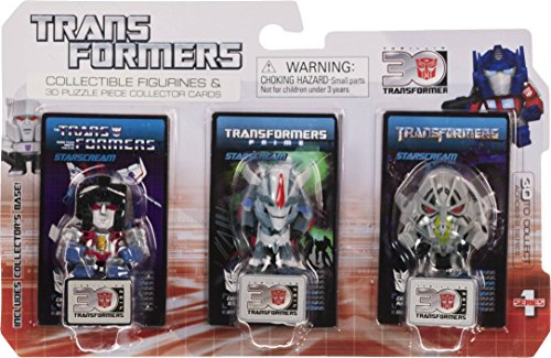 "Starscream ~1.25"" Mini-Figures (Transformers The Movie, Transformers Prime, G1): Transformers 30th Anniversary Series"