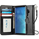 Galaxy S9 Plus Case, J&D [RFID Blocking Wallet] [Slim Fit] Heavy Duty Protective Shock Resistant Flip Cover Wallet Case for Samsung Galaxy S9 Plus - [Not For Galaxy S9] - Black