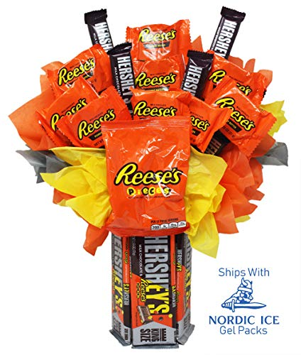 Hershey's Mashup King Size Milk Chocolate Bars with Reese's Pieces. The Ultimate Candy Bouquet ()