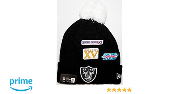 97f4b03e73968f Amazon.com : Super Bowl New Era Cuffed up Beanies (Raiders) : Sports &  Outdoors