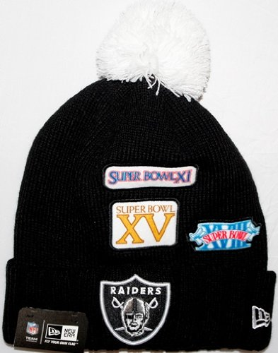 e94a50f62bc0ea Image Unavailable. Image not available for. Color: Super Bowl New Era  Cuffed up Beanies (Raiders)
